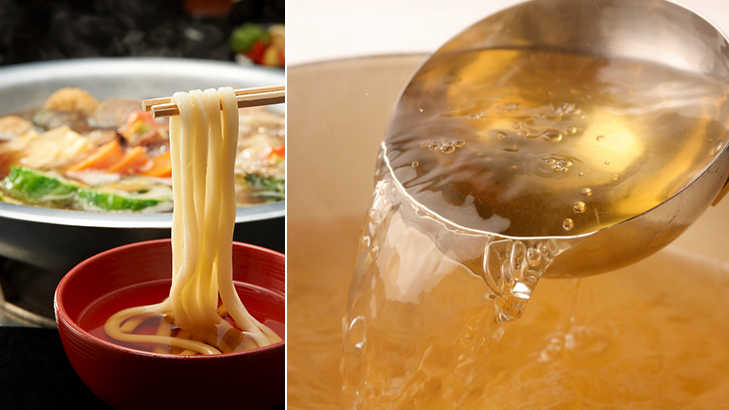 We think dashi broth is our signature dish.