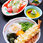 Ebi Oroshi Set (noodles with shrimp tempura and radish)