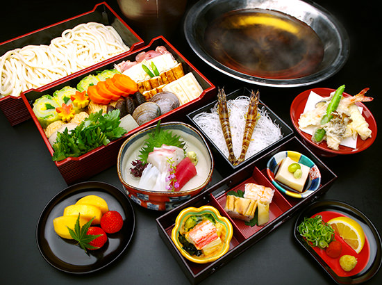 "Examples of ""Udon-suki"" Course"